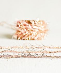 Tinsel Twine in Pink & Gold - 6 Yards - Rose Gold Ribbon Cord Metallic Garland Pretty Packaging Gift Wrapping Wedding Party Decor Rose Gold Ribbon, Wedding Party Invites, Party Invitations, Golden Birthday, Wedding Wraps, Gifts For Photographers, Pretty Packaging, Party Favor Bags, Creative Gifts