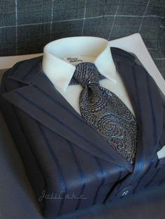 www.cakecoachonline.com - sharing....Men's suit cake