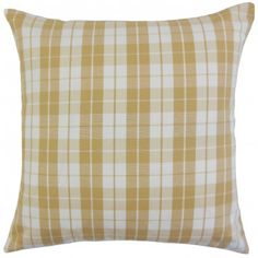 The Pillow Collection Joss Plaid Bedding Sham Size: Euro, Color: Honey Plaid Bedding, Plaid Throw Pillows, Toss Pillows, Throw Pillow Sets, Outdoor Throw Pillows, Floor Pillows, Scatter Cushions, Accent Pieces, Decorative Pillows