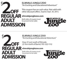 Elmvale Jungle Zoo - 2015 Summer Coupon Ontario Attractions, Day Trips, Zoo 2015, Coupons, Tourism, Adventure, Education, Gta, Dreams