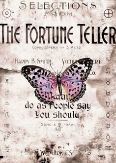.Vintage Fortune Teller Sign