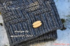". ""Stairway"" - шапки (+ схема) мужу и старшему сыну и шарф себе. ДОБАВИЛА вариант детской модели с завязками"