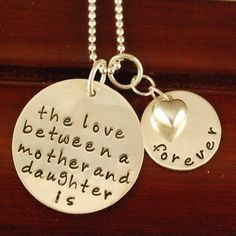 Mother/daughter necklace. Love this!!