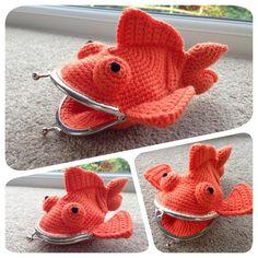 Goldfish Coin Purse Crochet Pattern by LauLovesCrochet on Etsy