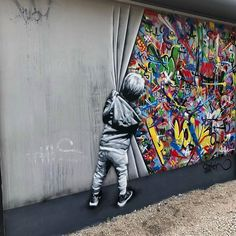 By in Miami Best Graffiti, Graffiti Art, Chalk Photography, Los Angeles Wallpaper, Tattoo Posters, Street Art Banksy, Illusion Art, Outdoor Art, Urban Art