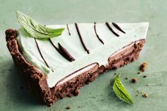Choc mint picnic pie  There's a hidden Mint Slice in every slice of this luxe chocolate pie.  FULL RECIPES: http://bit.ly/2fOla5D