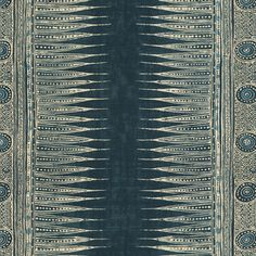 INDIAN ZAG - INDIGO by Suzanne Rheinstein for Lee Jofa  60% LINEN 20% COTTON 20% MODAL