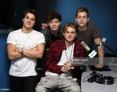 Brad Simpson, James McVey, Connor Ball and Tristan Evans of The Vamps at SiriusXM Studios on February 28, 2017 in New York City.