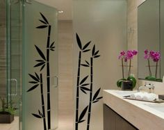 Bamboo Wall Decal Cute Vinyl Sticker Home Arts Floral Wall Decals WT029