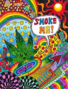 Trippy Art Drawings | art trippy weed marijuana shrooms psychedelic