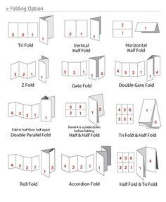 creative brochure folds - Google Search