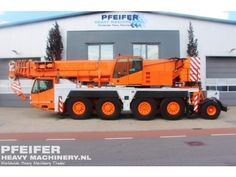 Used telescopic crane available at Pfeifer Heavy Machinery. Item Number PHM-Id 06909, Manufacturer DEMAG, Model AC80/2 Year of construction 2002, Kilometers, 50271 Hours carrier 6829, Hours superstructure 10198, Loading (lifting) capacity (kg) 90000 Boom length maximum (m) 50, Fuel Diesel.