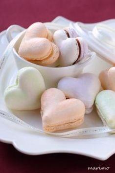 「ハートのマカロン♪」marimo | お菓子・パンのレシピや作り方【corecle*コレクル】