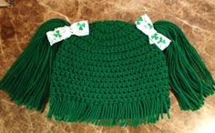 Green St Patrick's Day Baby girl adorable Cabbage by headcandy1, $18.00