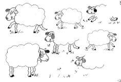 schrijfpatroon voor kleuters, thema schapen, free printable