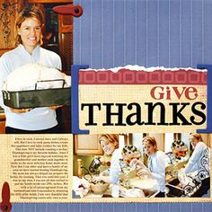 Thanksgiving Scrapbook Layout Ideas: Thanksgiving Day Preparation Scrapbook Page