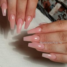 Nail Shapes - My Cool Nail Designs Pink Clear Nails, Clear Acrylic Nails, Acrylic Nail Shapes, Acrylic Nail Designs, Pink Nails, Black Nails, Nails And More, Wedding Nail Polish, Natural Gel Nails