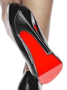 Colored Shoe Sole Kit - DIY Red Bottom - Slip Resistant Shoe Bottom Cover for Women's Heels (Red)