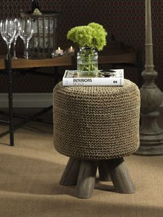 Barclay Butera Equestrian Woven Foot Stool http://www.carlyleavenue.com/collections/whats-new/products/barclay-butera-equestrian-woven-foot-stool: