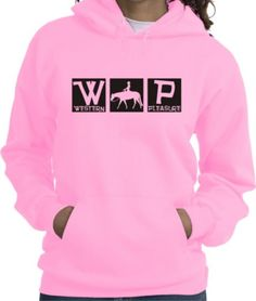 Western Pleasure Horse and Rider Squares Pink Hoodie - Charlie Horse Apparel