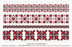 Semne Cusute: Romanian traditional motifs Folk Embroidery, Stencils, Bohemian Rug, Projects To Try, Cross Stitch, Colours, Traditional, Yahoo Search, Blouse