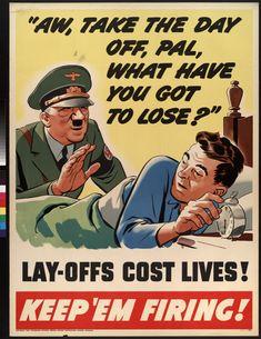 General Motors Corporation, Oldsmobile Division. c. 1942: Keep 'em Firing!