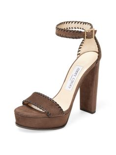 Holly Suede Platform Sandal by Jimmy Choo at Gilt