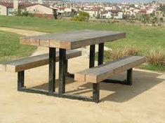 Afbeeldingsresultaat voor picknick table wood