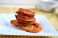 collecting memories: Baked Potato Chips with Avocado Garlic Dip