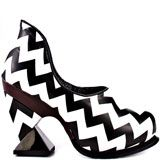 Irregular Choice Botoxic - Black White