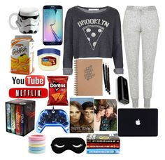 """""""A Lazy Day Spent Well"""" by ahriraine ❤ liked on Polyvore featuring Project Social T, Topshop, Vandor, Therapy, Samsung, L. Erickson, women's clothing, women's fashion, women and female"""