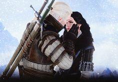 Yennefer and Geralt Witcher 3