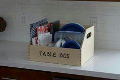 Table chuck box