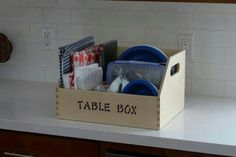 Table chuck box