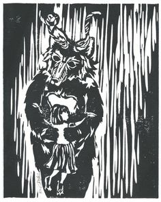 lino print by lupineheart on etsy
