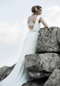 Illusion back wedding dress by Anna Kara.