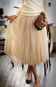 Long Tutu tulle skirt for women