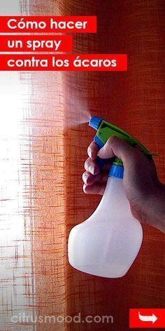 Cómo hacer un spray contra los ácaros. ¡Realmente funciona! #acaras #antiacaras #spay #diy #casa #polvo Diy Cleaning Products, Cleaning Hacks, Cleaning Supplies, Small Game Rooms, Power Clean, Storage Design, Home Hacks, Shower Tub, Spray Bottle