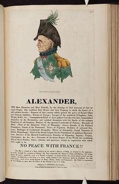[1814].Bodleian Libraries,Alexander,  Caricature of Czar Alexander I.(British political cartoon)