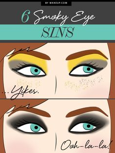 We all love the smoky eye - it's a simple look that's versatile and classic, but sometimes we can get a little carried away with the shadow. Are you guilty of these 6 smoky eye makeup sins?