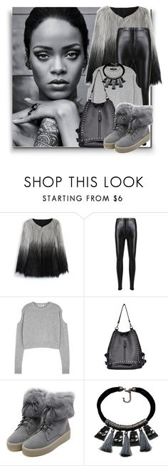 """""""faux fur"""" by sally92 ❤ liked on Polyvore featuring Chicwish, McQ by Alexander McQueen, WithChic, Bohemia, StreetStyle, fur, fauxfur, fauxfurcoats and set2018"""