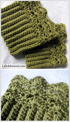 FREE boot cuffs crochet pattern