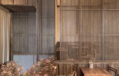 Image 9 of 15 from gallery of YuanGu Restaurant / WUXU Architectural Design. Photograph by Luxi Lu Partition Door, Commercial Complex, Japanese Interior Design, Chinese Garden, Main Entrance, Cafe Design, Traditional House, Dining Area, Architecture Design