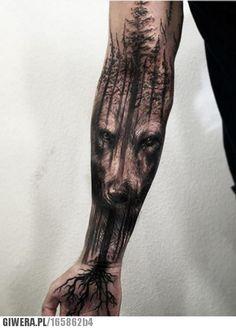 Tatuaż,wilk
