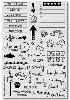 JessicaLynnOriginal, LLC - JessicaLynnOriginal Calendar Planner Clear Stamp Set, $15.00 (http://www.jessicalynnoriginal.com/jessicalynnoriginal-calendar-planner-clear-stamp-set/)