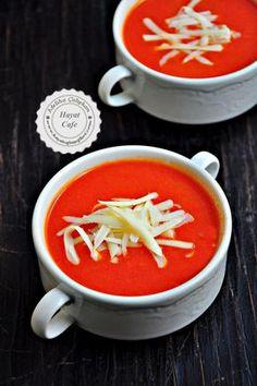 Kolay sütlü domates çorbası