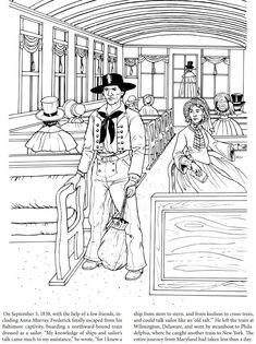 Frederick Douglass Coloring Book Dover Publications