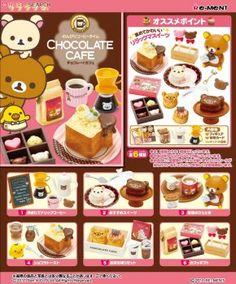 Re-ment Miniature SAN-X Rilakkuma Chocolate Cafe 6 PCS