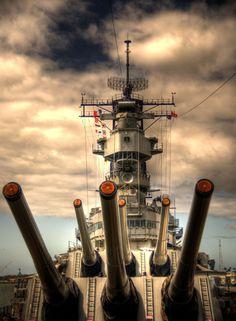 Photograph USS Missouri Big Guns by Steven Bennett on Naval History, Military History, Pearl Harbor Hawaii, F22 Raptor, Us Navy Ships, Navy Marine, Fire Powers, Big Guns, United States Navy