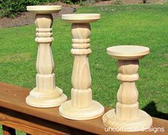 Dip Dyed Wooden Candlesticks - Uncommon Designs...